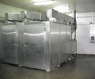 Установка для холодного копчения рыбы с горизонтальным обдувом